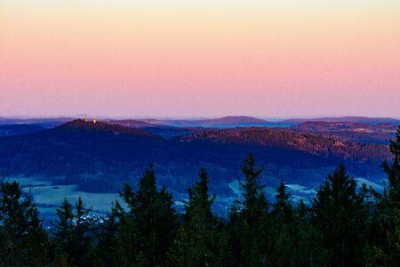december sunrise: Winter frozen sunrise in mountains. Photo taken on: December 31st, 2016 Stock Photo