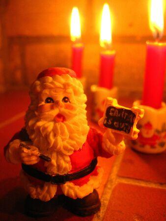 Santa and candles photo