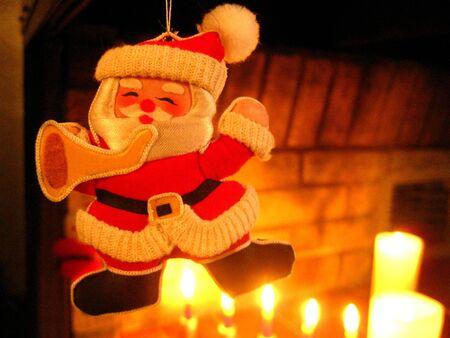 Santa playing photo