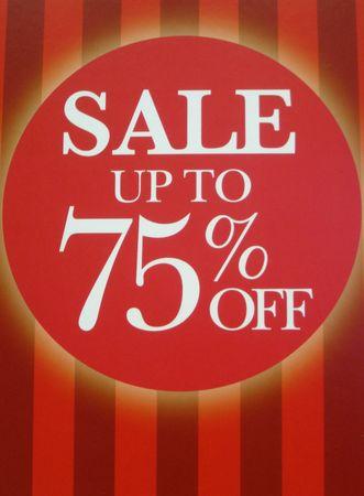 Sale sign Stock Photo - 6362587
