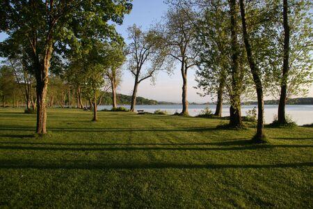 evening mood on a lake