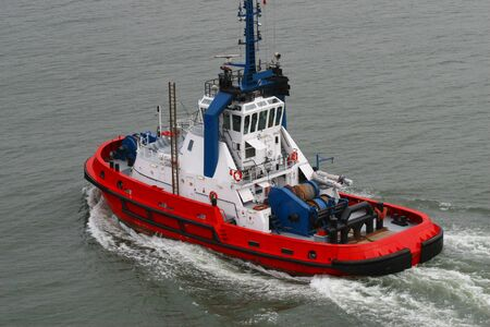 harbour tugboat Stock Photo