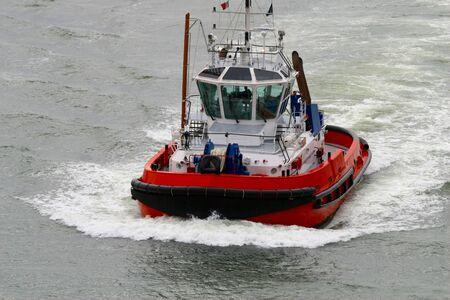Tugboat: harbour tugboat Stock Photo