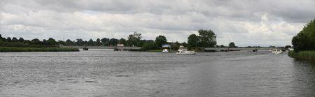 river shannon near portumna bridge Stock Photo