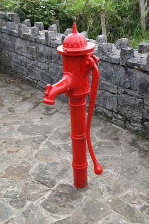 red waterpump taken in ireland