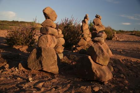 stacke stones in the Mehlinger Heide
