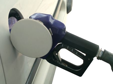 Petrol kiosk pump Stock Photo
