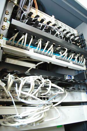 Data center network rack