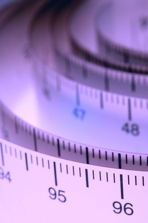 A roll of measuring tape