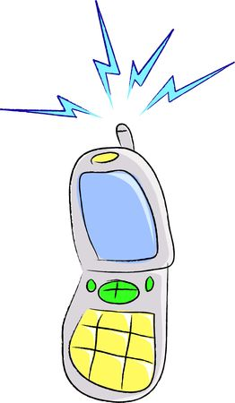 A cartoon vector illustration of a cell phone