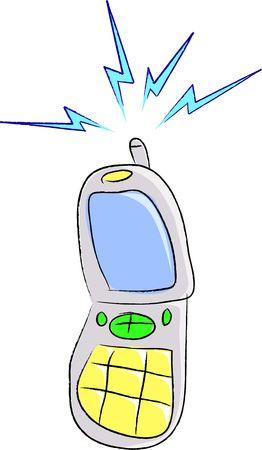 Una caricatura ilustración vectorial de un teléfono celular  Foto de archivo - 261901