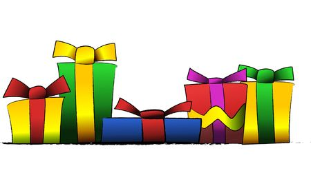 Vector illustration of presents and gifts Stock Photo