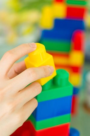 A children building blocks toy. Can be used for building blocks of a nation concept. More in my gallery.