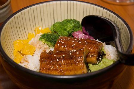 A poular Japanese cuisine, Unagi Donburi