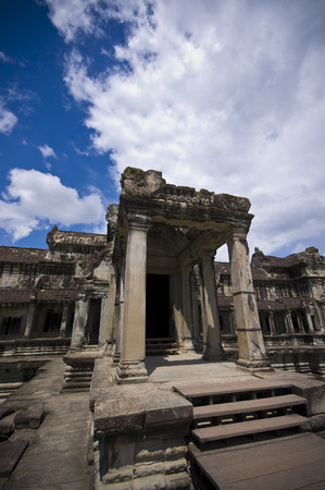 The entrance into the Angkor Wat temple