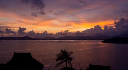 A beautiful sunset at Siray Bay, Phuket Editorial