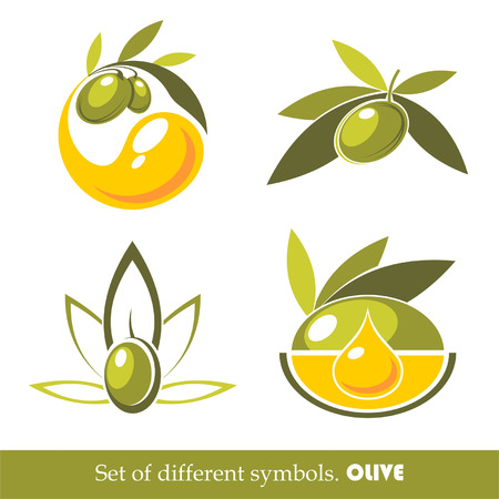 macro leaf: Collections of olive icons
