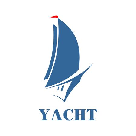yacht isolated: Vector sign symbol yacht. Isolated on white background. Illustration