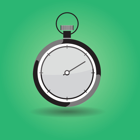 second hand: Stopwatch with seconds arrow running
