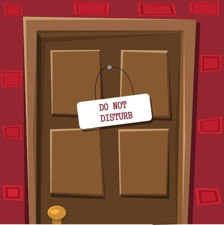 locked door: Locked door with table do not disturb