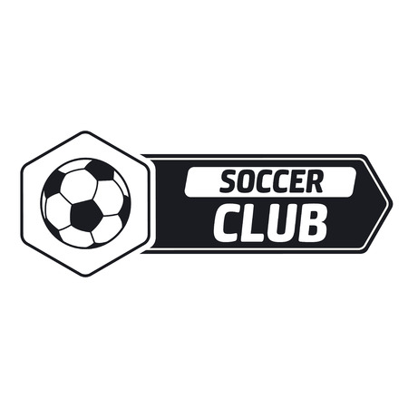Soccer label with sample text. Logo template  vintage hipster style. Vintage badge for soccer championships, tournaments, and golf clubs .