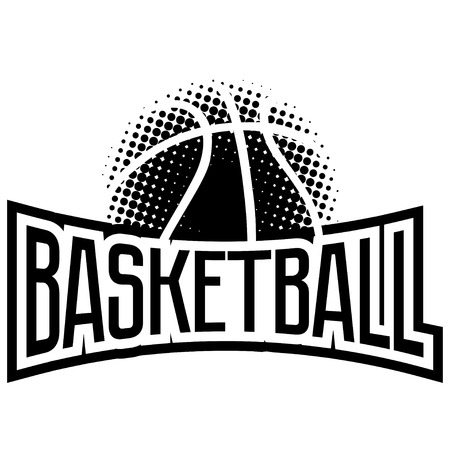 Streetball and basketball icon logo set with ball and basket in modern and vintage styles - stock
