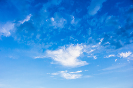 The blue sky with white cloud on the day, beautiful of blue sky