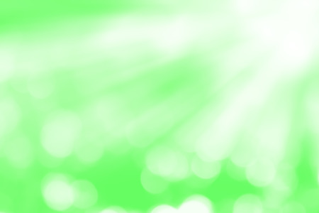 Light motion blur on green abstract background