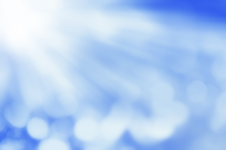 Light motion blur on blue abstract background