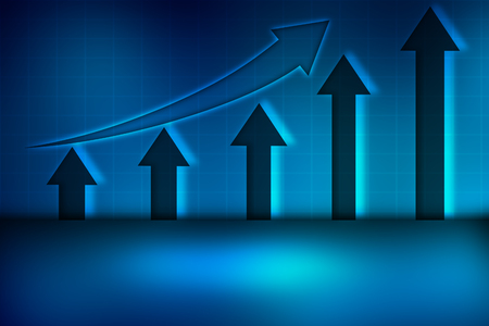 Blue Abstract background, graph investment data, the money investment background abstract