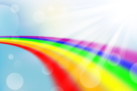 rainbow on blur and light abstract background, rainbow and blur background Stok Fotoğraf - 122174078
