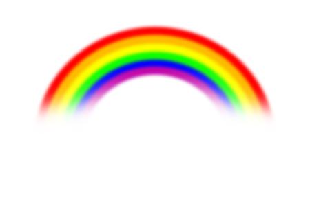 Arco iris sobre fondo abstracto borroso y claro, arco iris y fondo borroso