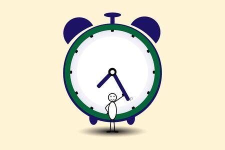 clock in time and money Vektoros illusztráció