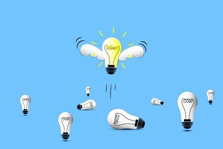 lamp in open idea concept