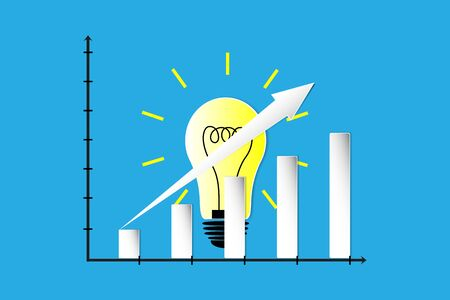 the idea and growth graph Ilustrace