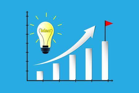 the idea and growth graph Reklamní fotografie - 130034958
