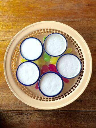 coconut milk: Coconut Milk Thai Dessert