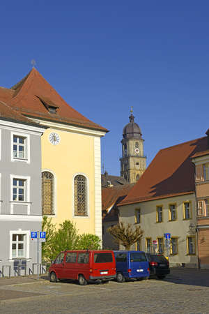 Street view of Amberg, a old medieval town in Bavaria, Germany.