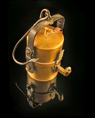 Old carbide miners lamp Imagens