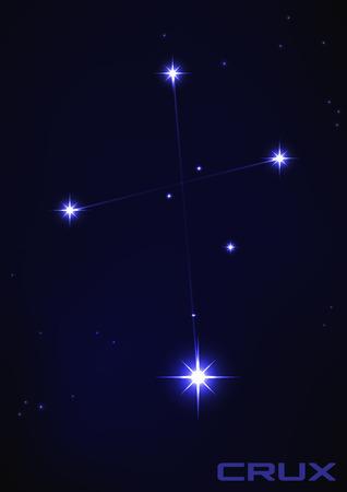 青の核心星座のベクトル イラスト