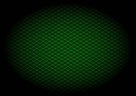Vector illustration - background of green laser grid in elipse