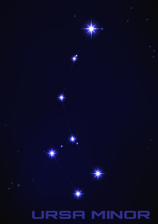 ursa minor: Vector illustration of Ursa Minor constellation in blue Illustration