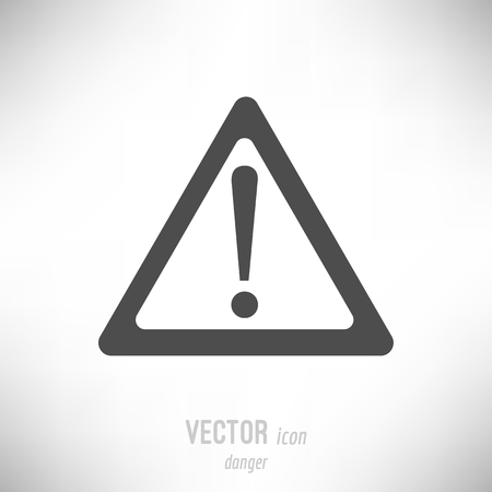 vector simple flat icon of danger, threat, warning Иллюстрация
