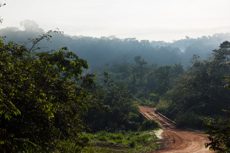 Trans-Amazonian Highway in Brazil during dry Season