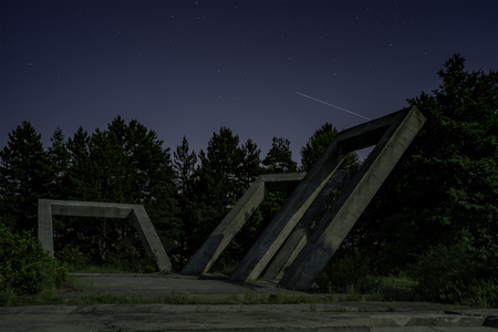 Zajecar, Serbia - May 27, 2018:The Gallows or Monument to the Fallen in the Liberation War and the Victims of Fascist Terror in Zajecar Editorial
