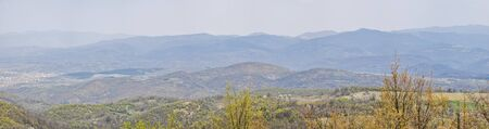 Panorama view of Stara Planina in eastern Serbia from the road to Nis