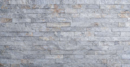 Close up of gray decorative stone on the wall Standard-Bild