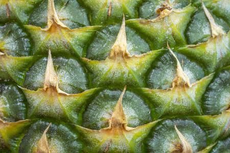 Macro close up texture of pineapple Standard-Bild