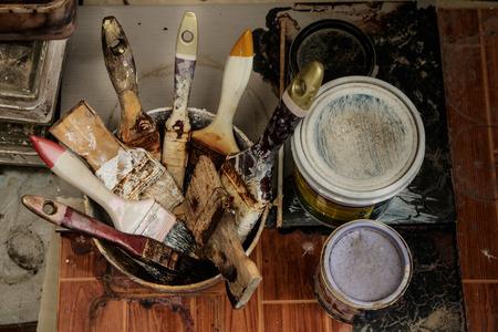 paintbrushes: various type of paintbrushes
