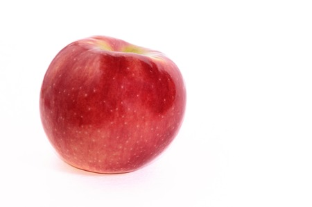 Red Apple Isolated on White  Juicy and ripe fruit